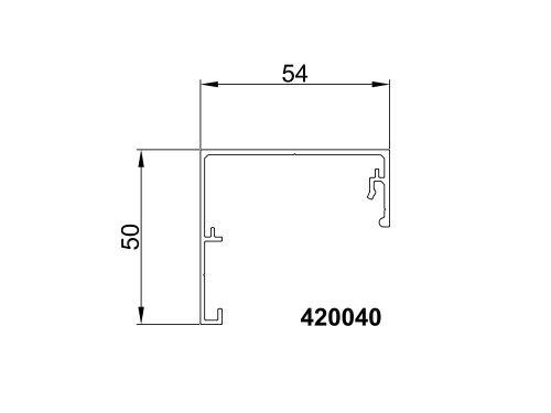 Profil górno-boczny 420040