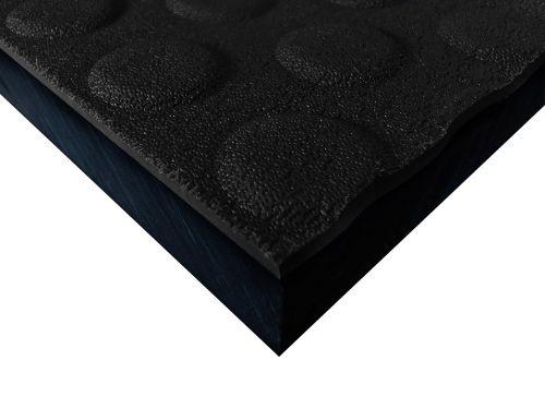 Płyty polietylenowe lite, struktura antypoślizgowa button czarny
