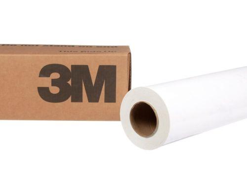 Folie wylewane błyszczące białe z klejem kanalikowym 3M IJ180