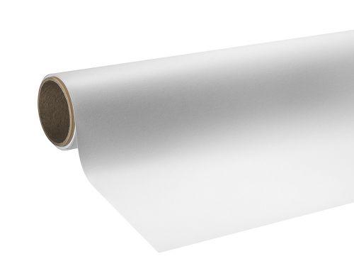 Folie wylewane błyszczące białe z klejem kanalikowym