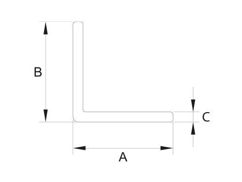 Kątownik równoramienny 25x25x2
