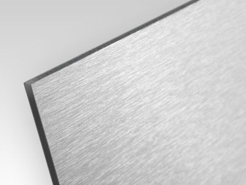 Płyty kompozyt reklamowy jednostronny szczotkowany srebrny 2 mm