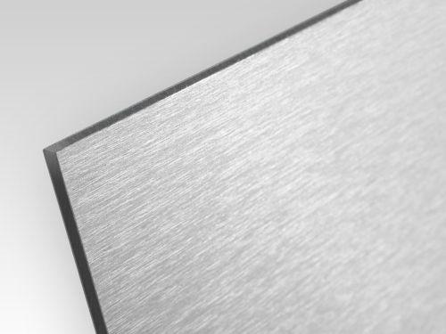 Kompozyt reklamowy jednostronny srebrny szczotkowany 2 mm