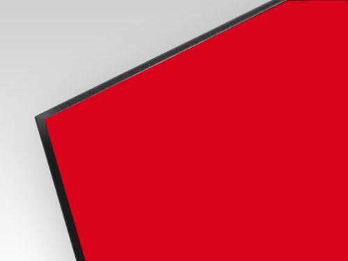 Kompozyt reklamowy dwustronny czerwony / srebrny 3 mm