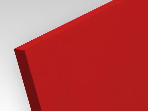 Płyty PCW spienione standard czerwony 5 mm