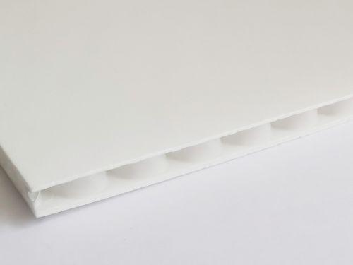 Płyty polipropylenowe PP o strukturze rdzenia plaster miodu grubość 2,9 mm, kolor biały
