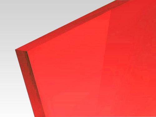 Płyty akrylowe wylewane kolory fluo czerwony 3 mm