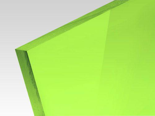 Płyty akrylowe wylewane kolory fluo zielony 3 mm