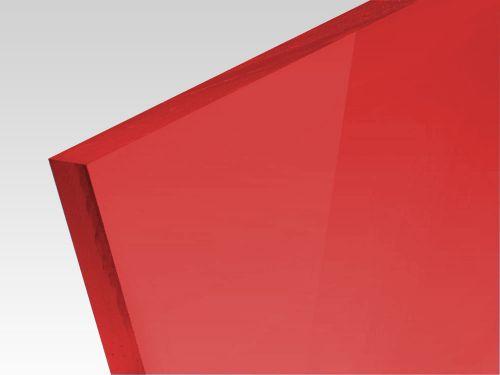 Płyty akrylowe wylewane kolory transparentne ciemny czerwony 3 mm