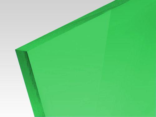 Płyty akrylowe wylewane kolory transparentne zielony 3 mm