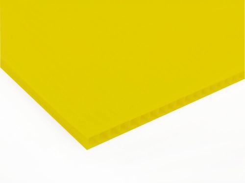 Płyty polipropylenowe PP kanalikowy grubość 3 mm, kolor żółty