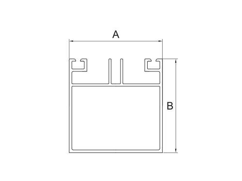 Profil aluminiowy dolny konstrukcyjny wys. 60mm