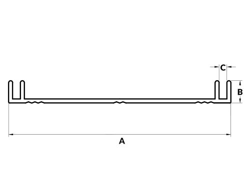 Profil aluminiowy kasetonowy 10