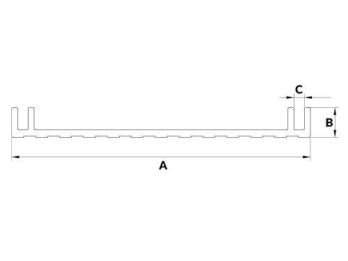 Profil aluminiowy kasetonowy 10R