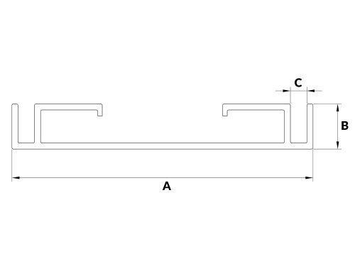 Profil aluminiowy kasetonowy 10S