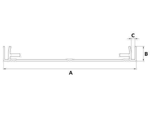 Profil aluminiowy kasetonowy 16E