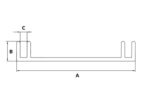 Profil aluminiowy kasetonowy 6