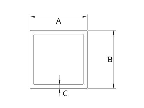 Rura kwadratowa 25x25x2