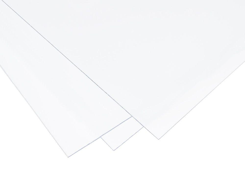 Folie PCW twarde w arkuszu - białe