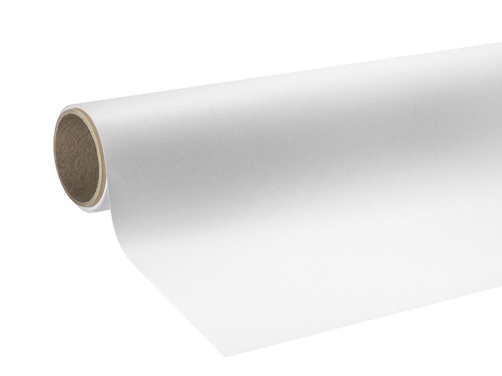 Folie błyszczące białe z klejem usuwalnym