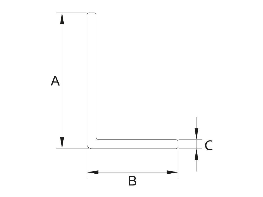 Kątownik nierównoramienny 40x20x2