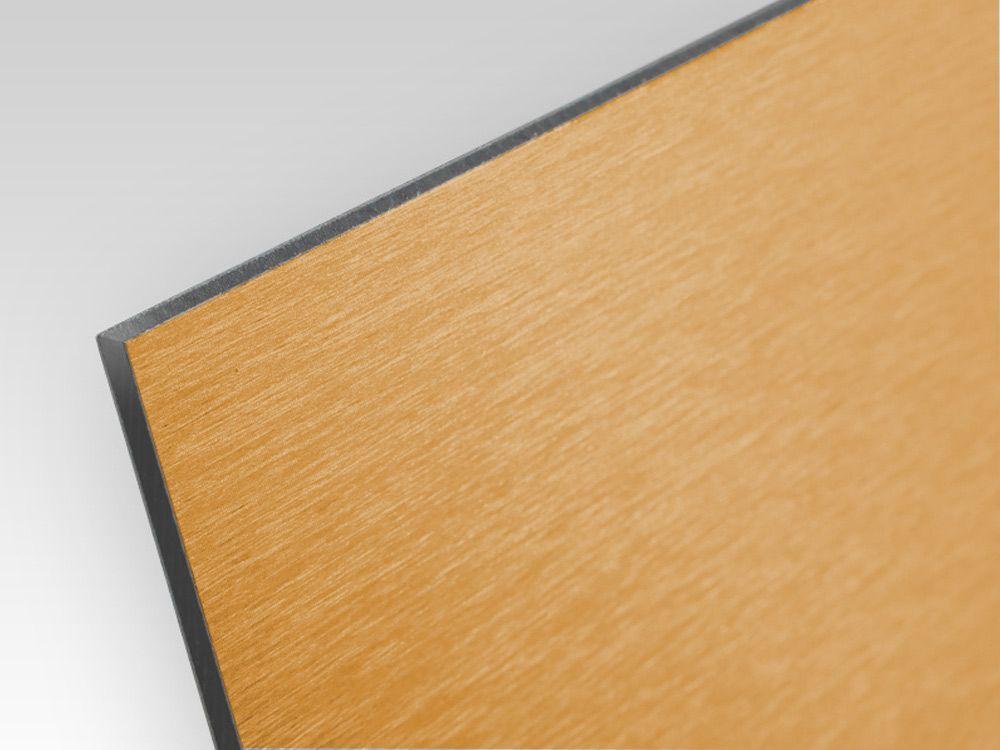 Kompozyt reklamowy jednostronny złoty szczotkowany 3 mm