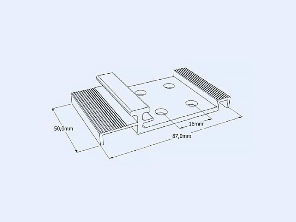 Kotwy do paneli z poliwęglanu 40mm
