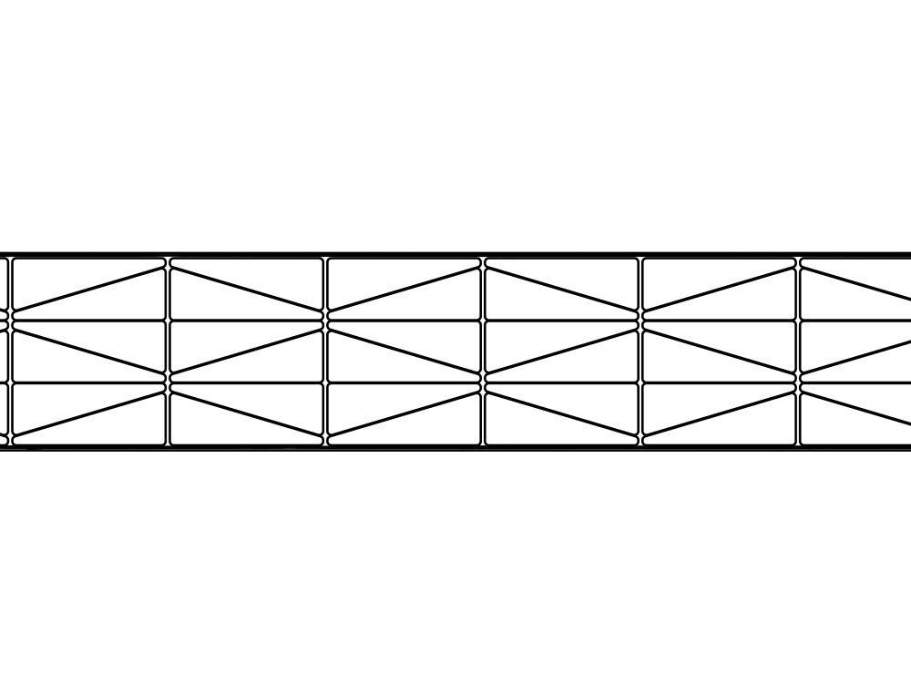 Poliwęglan kanalikowy bezbarwny 25 mm / 7X