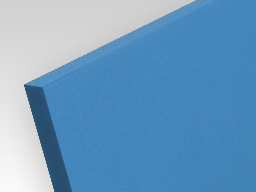 Płyty PCW spienione standard niebieski 3 mm