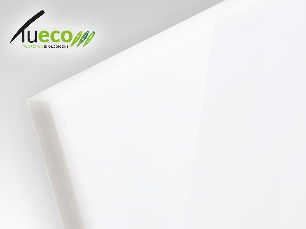 Płyty akrylowe wylewane z recyklingu kolory opaque - biały