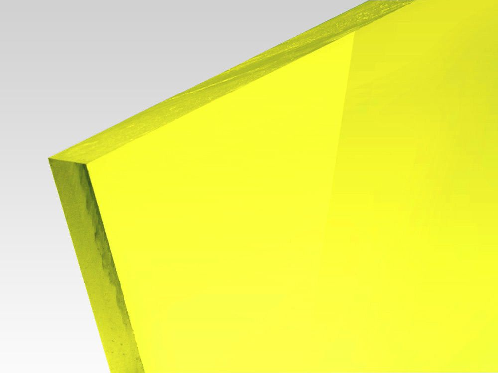 Płyty akrylowe wylewane kolory fluo żółty 3 mm