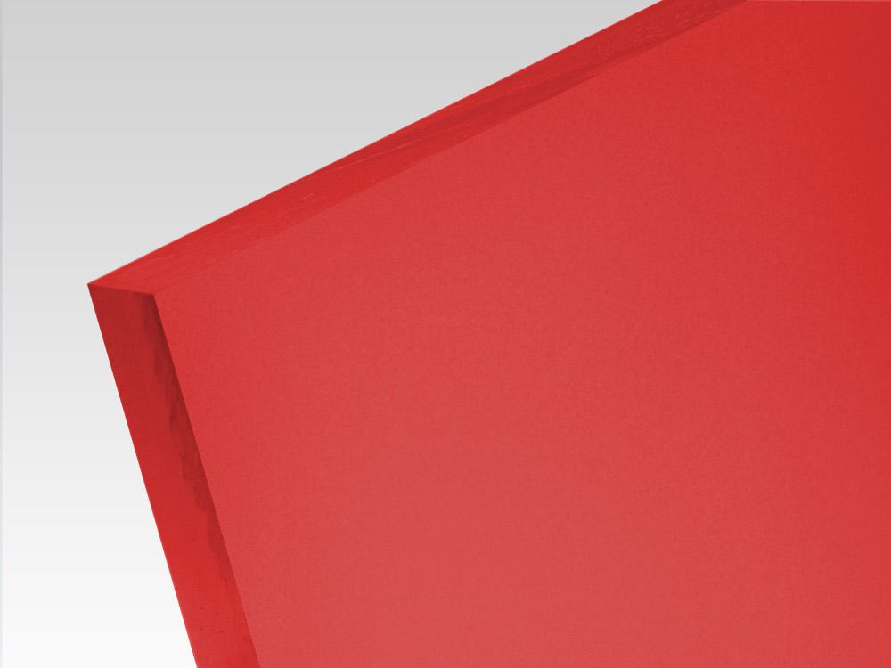 Płyty akrylowe wylewane kolory translucentne czerwony 3 mm