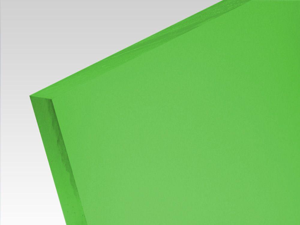 Płyty akrylowe wylewane kolory translucentne zielony 3 mm