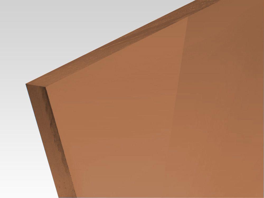 Płyty akrylowe wylewane kolory transparentne brąz 3 mm