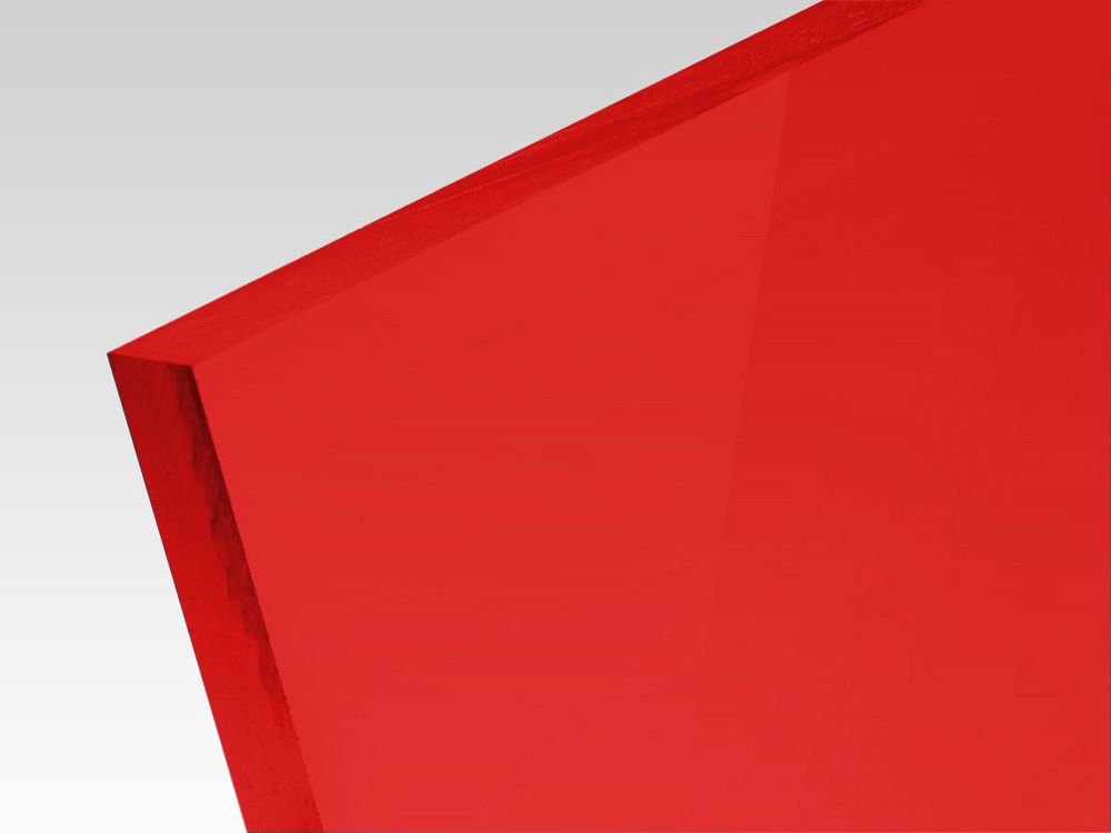 Płyty akrylowe wylewane kolory transparentne czerwony 3 mm