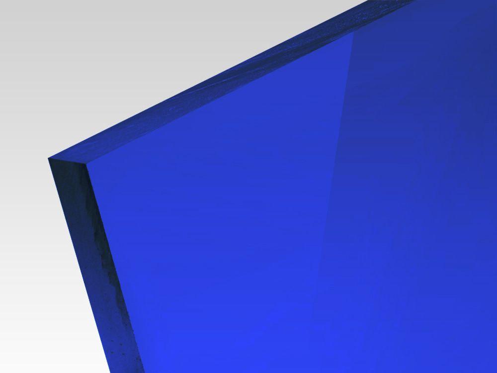 Płyty akrylowe wylewane kolory transparentne niebieski 3 mm