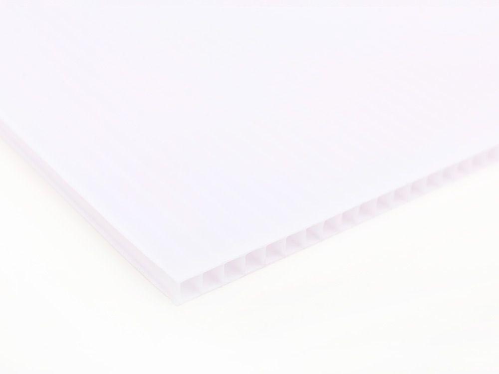 Płyty polipropylenowe PP kanalikowe białe 2 mm