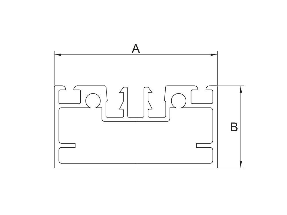 Profil aluminiowy dolny konstrukcyjny wys. 30mm