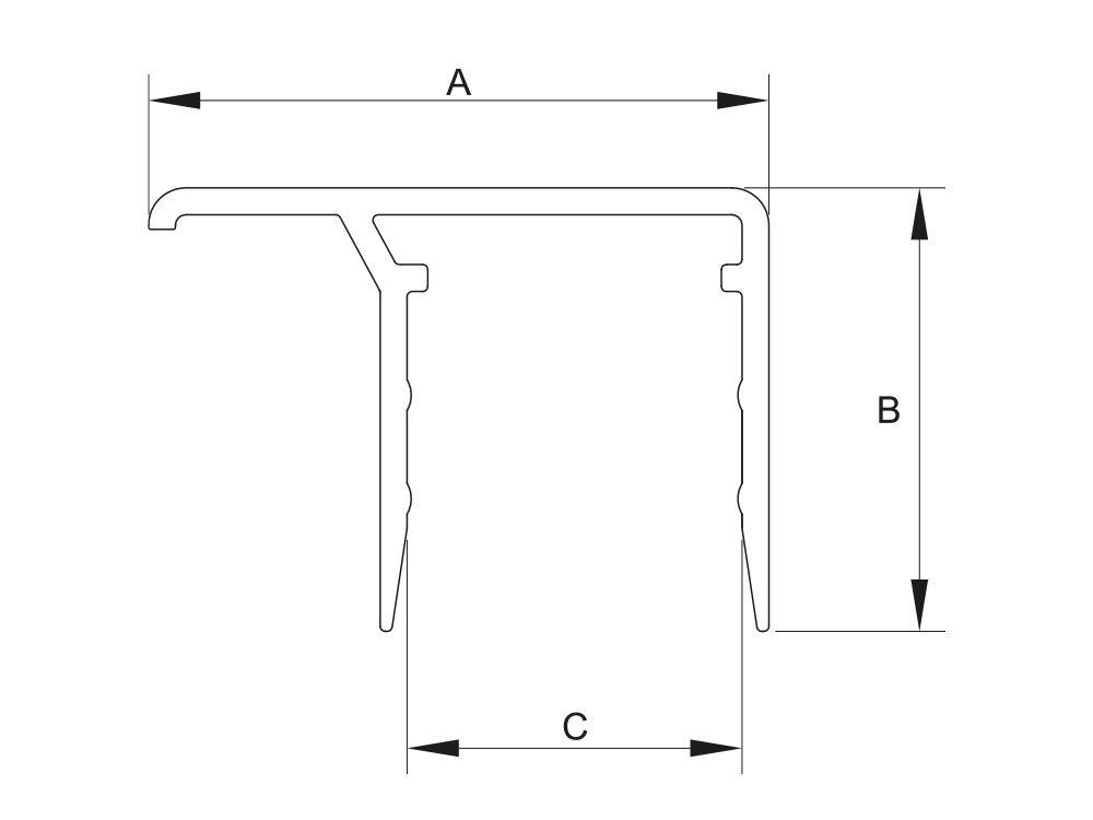 Profil aluminiowy zamykający do płyt o gr. 8 mm
