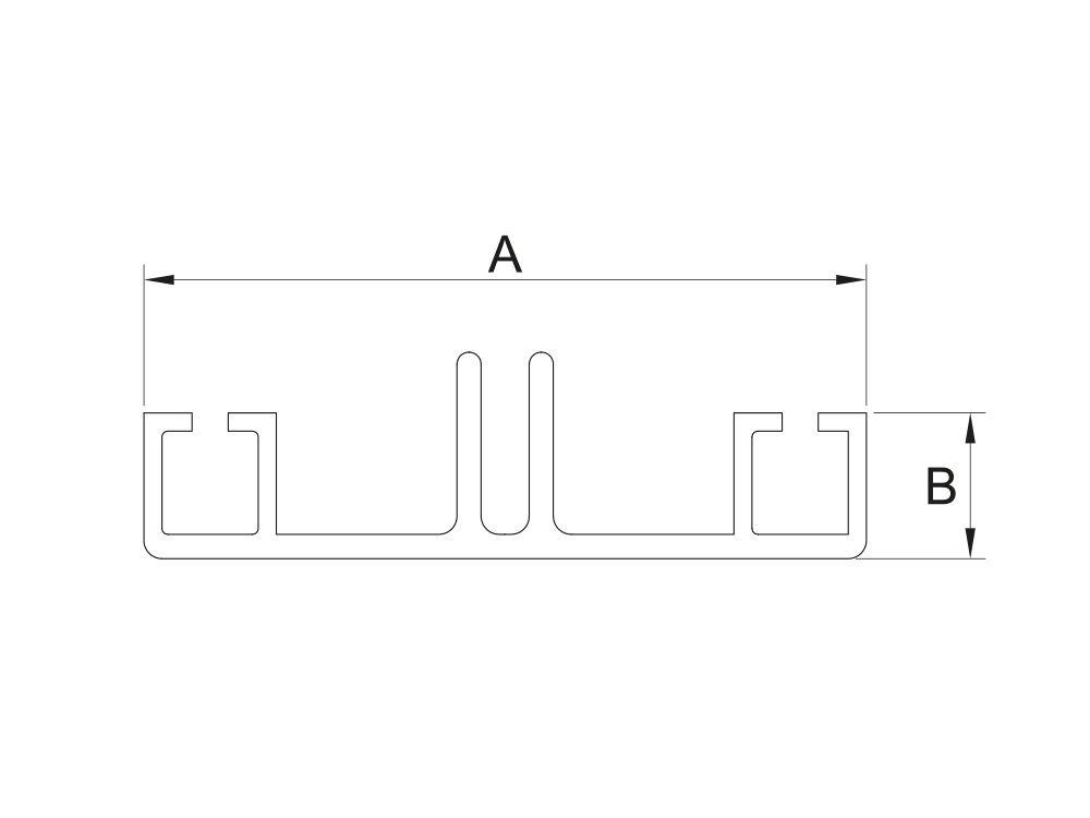 Profil aluminiowy dolny