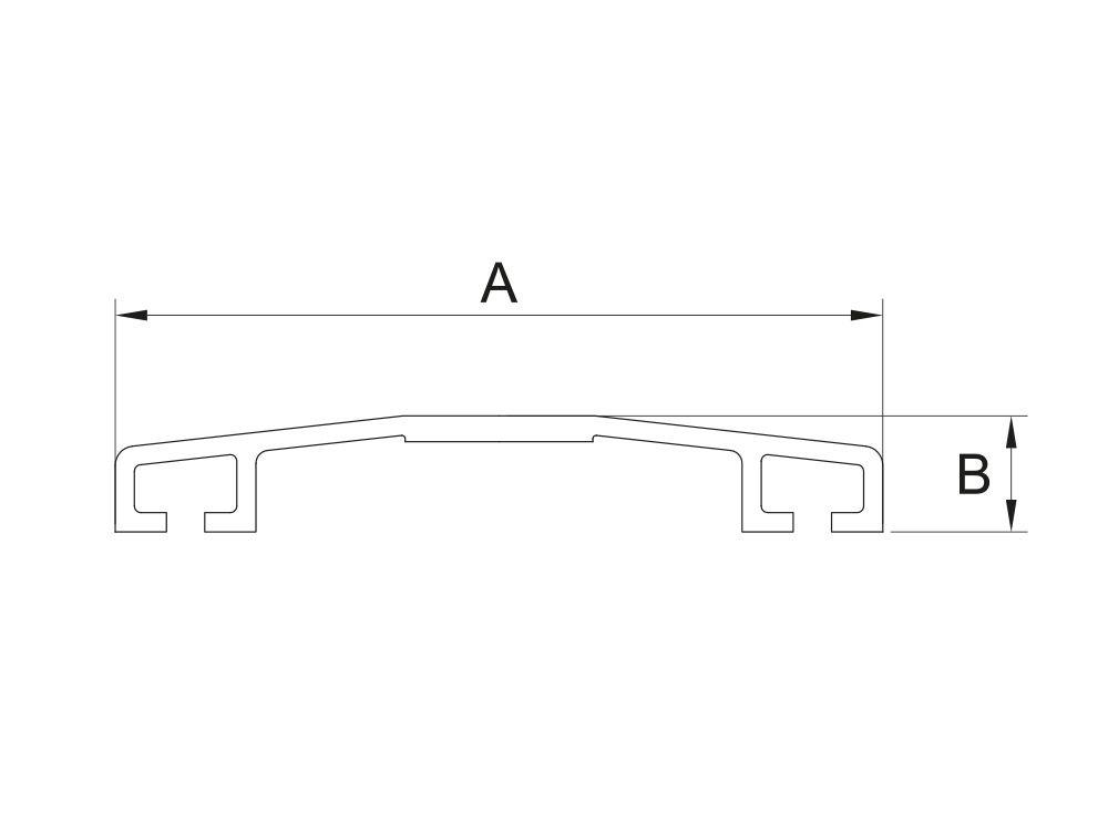 Profil aluminiowy górny