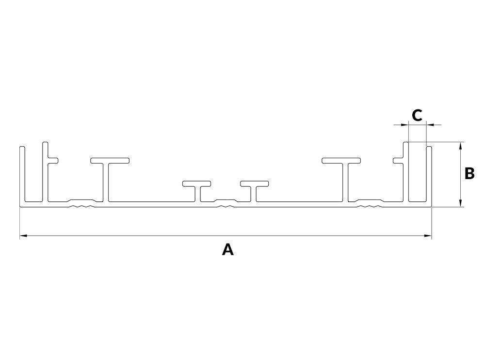 Profil aluminiowy kasetonowy 14E