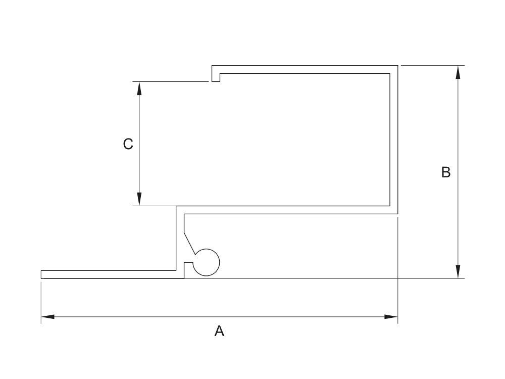 Profil aluminiowy przegub do płyt 16mm