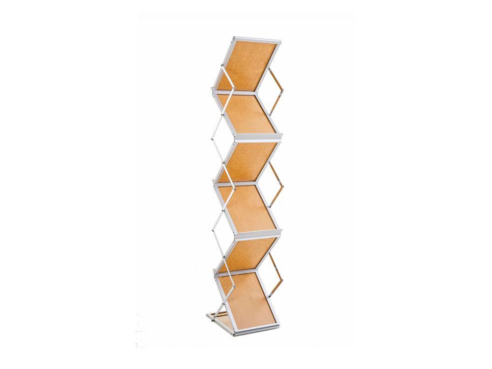Stojak na ulotki ZED-UP2  A4  z aluminiową walizką