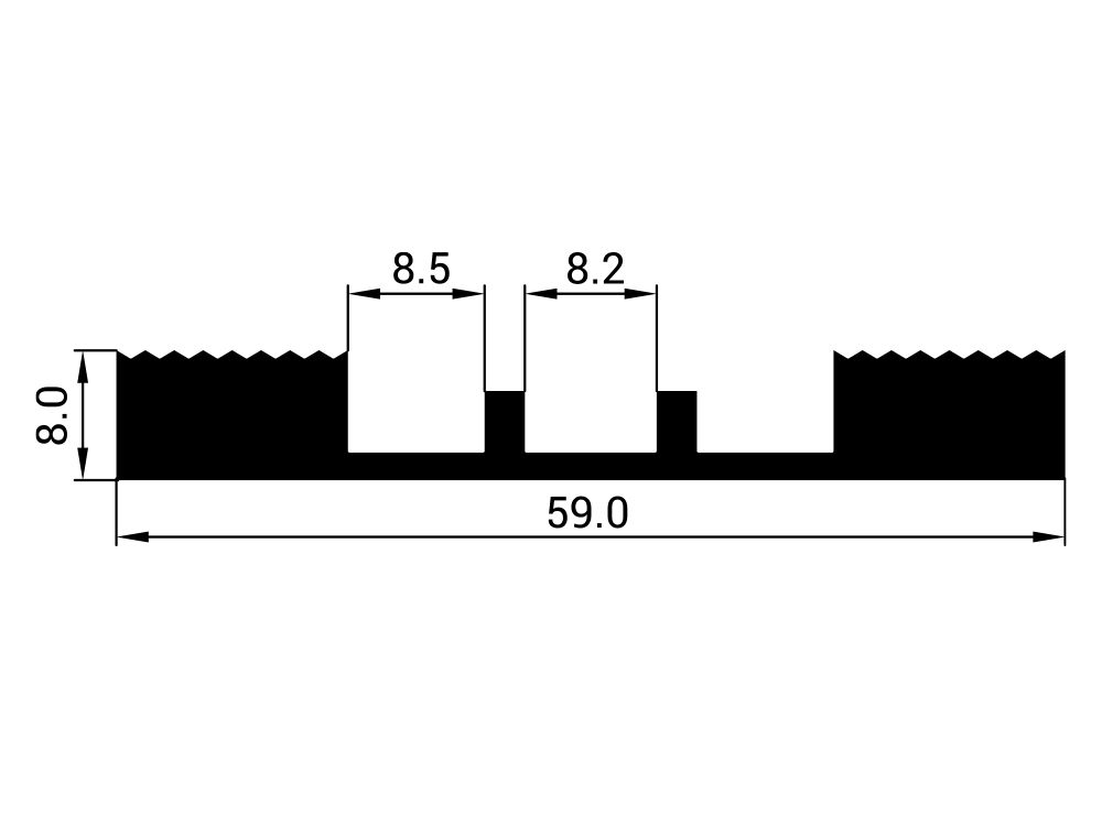 Uszczelka EPDM dolna S-228